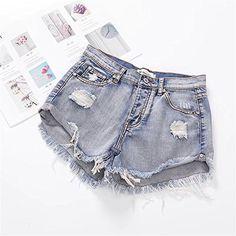 d70eaff2db04 Hanglin Trade Women s Juniors Vintage Denim High Waisted Jeans Shorts Summer  Hot Jeans