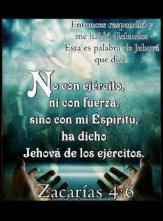 No es con ejercito si no con el poder del espiritu santo.