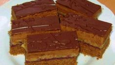 Kinder mliečny rez - rýchly a výborný koláčik bez múky! Czech Recipes, Russian Recipes, Sweet Desserts, Sweet Recipes, Healthy Diet Recipes, Cooking Recipes, My Favorite Food, Favorite Recipes, Cake Bars