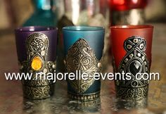 Moroccan tea glasses Moroccan Party, Tea Glasses, Pillar Candles, Events, Mugs, Tumblers, Mug, Candles, Cups