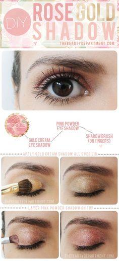 วิธีแต่งตาสี Rose Gold