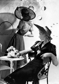 Lisa Fonssagrives and friend for VOGUE, 1938.