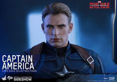 The Hot Toys Captain America Sixth Scale Figure is now available at Sideshow.com for fans of Captain America: Civil War, Chris Evans and Team Cap.
