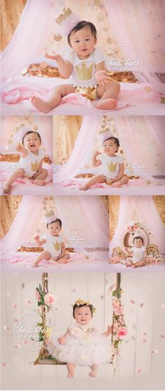 First Birthday - #babygirl #rhodeisland #babyphotographer #heidihope Smash Cake Girl, 1st Birthday Cake Smash, Girl First Birthday, Princess Birthday, Baby Birthday, Baby Pictures, Baby Photos, First Birthday Photography, 1st Birthday Photoshoot