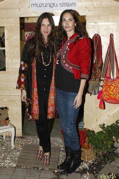 Horas antes Tatiana presentaba su colección en Federica & Co. junto a Eugenia Silva (encargada de poner en contacto a la firma con la dueña del espacio).