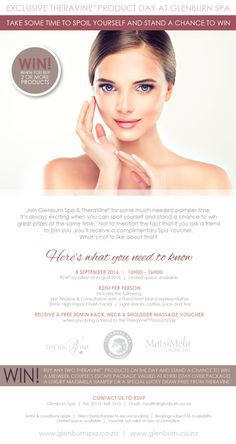 Glenburn Spa Theravine Product Day - Sept 2016 When You Can, Spa