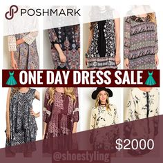 👗All Dresses On Sale👗 👗One Day Dress Sale👗Shift Tunic Boho Paisley Lace Peasant All on sale🎊🎉🎊🎉 Dresses