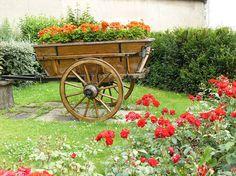 Flowered Wagon