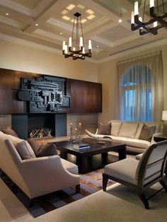 Check out an understated but striking modern living room on HGTV.