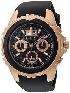 Momentum Mens Chrono Quartz Stainless Steel and Rubber Diving Watch ColorBlack Model * Be sure to check out this awesome product. Diving Watch, Affordable Watches, Discount Nikes, Black Models, Sport Watches, Casio Watch, Cool Stuff, Stuff To Buy, Color Black