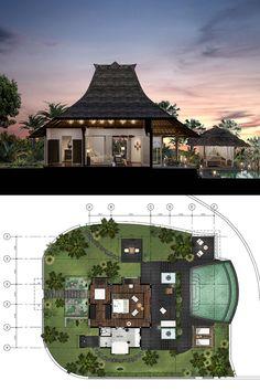 Raffles Bali Resort Villa mock-up Bali Resort, Resort Villa, Villa Plan, Villa Design, Beach Resorts, Hotels And Resorts, Bungalow Resorts, Resort Plan, Resort Interior