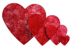 Corazones, decoración de San Valentín