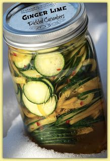 Living Rancho Delux: Ginger Lime Pickled Cucumbers