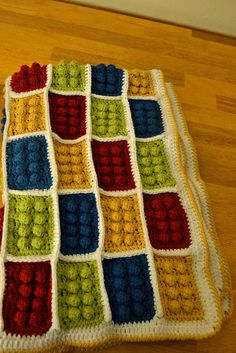 lego crochet blanket pattern free | Lego Blanket