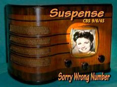 "Suspense ""Sorry Wrong Number"" Agnes Moorehead CBS 9/6/45  Radio Mystery Drama"