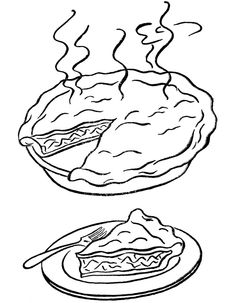 Junk Food Pizza Coloring Page For Kids jdlo