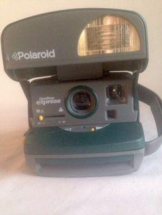 Polaroid One Step Express Hunter Green Nineties w Macro and Built in Flash Works 074100086707 | eBay