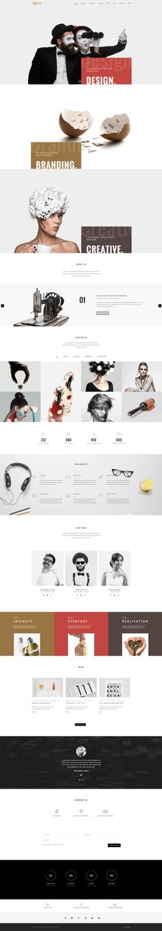 'H-Code' is a robust HTML template with tons of One Page template options.