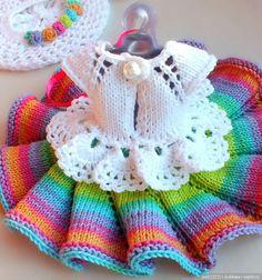 Цветной комплект с миниатюрными розочками для паолочек / Одежда для кукол / Шопик. Продать купить куклу / Бэйбики. Куклы фото. Одежда для кукол
