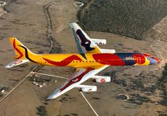 Braniff International Airways was an American airline that was in business from 1928 until In the airlines asked Alexander Calder to paint one of their airplanes. The result was a Doug… Xavier Veilhan, Douglas Dc 8, Aircraft Painting, Alexander Calder, Civil Aviation, Aviation News, Commercial Aircraft, Nose Art, Paint Schemes