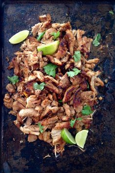 The most tender, juicy, flavorful, crispy caramelized edges chicken carnitas recipe of your dreams! Award winning chicken carnitas!