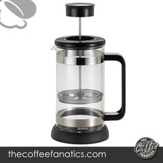 BonJour Coffee Borosilicate Glass French Press with Coaster & Scoop, 33.8-Ounce, Riviera, Black Borosilicate Glass High quality German Borosilicate glass Harder and stronger than regular glass More resistant to thermal shock (adding hot water to a cool glas Glass carafe is dishwasher safe, lid and frame should be hand washed Drip Coffee Maker, Coffee Cups, Best French Press Coffee, Steaming Cup, Stainless Steel Rod, Heat Resistant Glass, Fresh Coffee, Coaster, Carafe