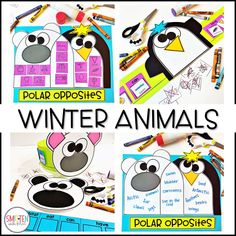 Winter Animals Activities Polar Bears, Penguins, Kindergarten, 1st Grade