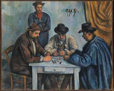 Paul Cezanne Card Players painting is shipped worldwide,including stretched canvas and framed art.This Paul Cezanne Card Players painting is available at custom size. Cezanne Art, Paul Cezanne Paintings, Camille Pissarro, Henri Matisse, Claude Monet, Claude Debussy, Metropolitan Museum, Pablo Picasso, Barnes Foundation