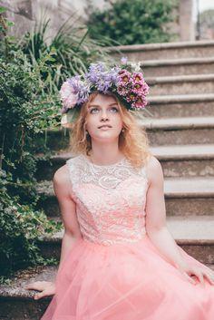 Model: Mira Pranger Models, Flower Crown, Fairies, Flower Girl Dresses, Photoshoot, Wedding Dresses, Party, Photography, Fashion
