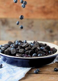 No Bake Oreo Blueberry Tart - No Bake Oreo Blaubeer Tarte #summer #blueberries #food #oreo | Das Knusperstübchen