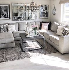 future home interior Living Room Grey, Living Room Sets, Home Living Room, Living Room Designs, Living Room Decor, Casa Disney, Deco Design, Living Room Inspiration, Family Room