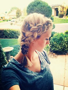 How to: Pancaked Dutch Side Braid - Can be done on even short hair like mine. 2015 Hairstyles, Creative Hairstyles, Pretty Hairstyles, Braided Hairstyles, Cut My Hair, Hair Cuts, Natural Hair Styles, Short Hair Styles, Braids For Short Hair