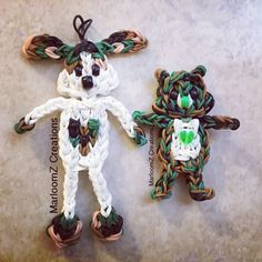Camouflage Puppy Love & Care Bear for Valentine's Day - Rainbow Loom