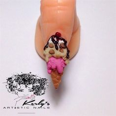 3-D Double Scoop Ice Cream Tutorial by KerlysNails from Nail Art Gallery