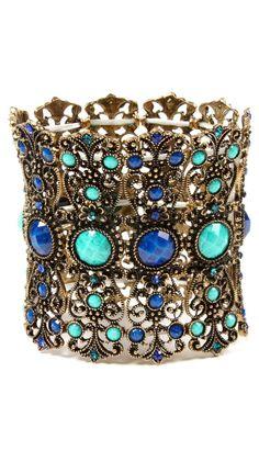 Amrita Singh Hampton Bay Cuff In Turquoise - Beyond the Rack Photo Jewelry, Jewelry Box, Jewelry Accessories, Fashion Accessories, Unique Jewelry, Jewlery, Jewelry Trends, Turquoise Cuff, Turquoise Jewelry