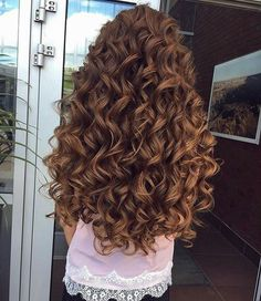 amazing longcurly hair you can try 3 ~ thereds. Curly Hair Braids, Curls For Long Hair, Curly Hair Care, Long Curly Hair, Wavy Hair, Curly Hair Styles, Natural Hair Styles, Curly Perm, Permed Hairstyles