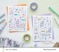 Altenew Garden Grow_Stamped Background with Partial Copic Coloring_May Park_2