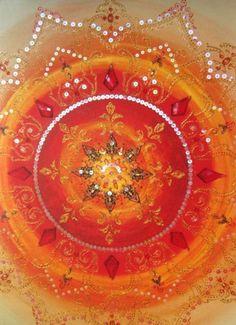 Died Cloth Mandala with Beading