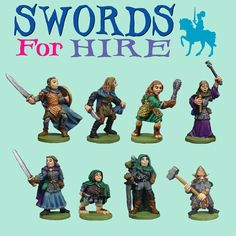 Mega Miniature (Metal Magic)  Swords For Hire - 8 pack - $12