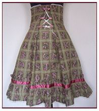 Free Pattern Draft With Tutorial - High Waist Skirt With Several Variations Including Corsetted Back Shown Above