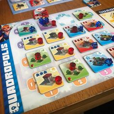 """301 Likes, 4 Comments - Board Game Meeple BGG (@boardgamemeeple) on Instagram: """"Quadropolis! Saturday afternoon tile building!"""""""
