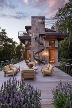 Dream Home Design, Modern House Design, Small House Design, Design Exterior, Exterior Colors, Modern Style Homes, Modern Farmhouse Exterior, Farmhouse Decor, Dream House Exterior