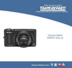 Todo buen momento debe de ser recordado, Cámara digital NIKON con zoom óptico. Costo del artículo puesto en El Salvador $191.46 http://amzn.com/B009SE6KPI