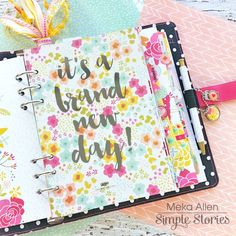 Carpe Diem planner featuring the Sunshine & Happiness Collection Carpe Diem Planner, Simple Stories, Scrapbook Cards, Scrapbooking, Filofax, Diy And Crafts, Sunshine, Stationery, Planners