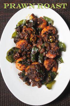 YUMMY TUMMY: Keralan Prawn Roast Recipe - Chemmeen Roast Recipe