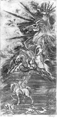 Marcel Chirnoaga~apoc3m-cavalerii. Marcel, Oil, Abstract, Artwork, People, Painting, Summary, Work Of Art, Auguste Rodin Artwork
