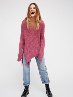 Purple Crystal Vertigo Pullover at Free People Clothing Boutique