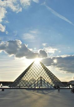 The all seeing eye above the pyramid reveals itself at the Louvre, in Paris