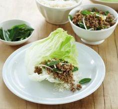 Thai pork lettuce wraps | Healthy Food Guide
