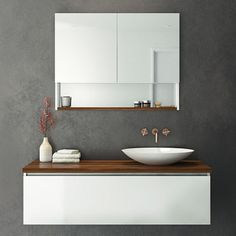 Rifco Platinum Wall Hung Vanity 1200mm with Timber top in Blackwood & Oasis Basin